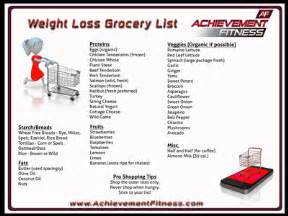 free weight loss shopping list picture 3