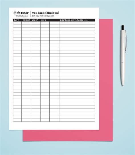 wall chart for weight loss monitoring picture 4
