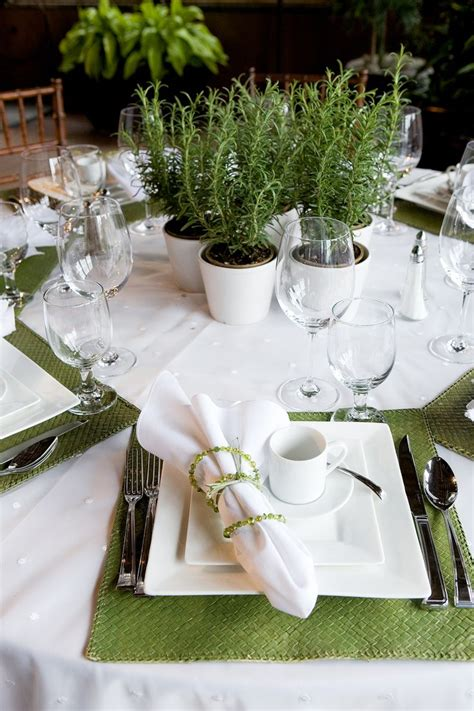 Table centerpieces herbal picture 3