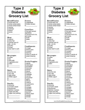 grocery list for diabetics picture 2