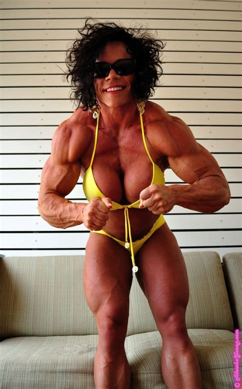 female bodybuilder ing two guys picture 7