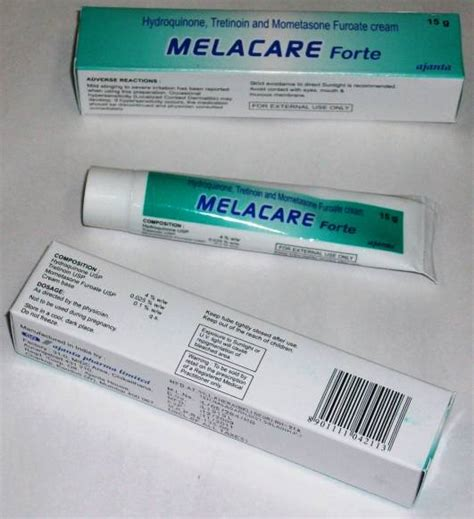 how does melacare forte cream lighten the skin picture 1