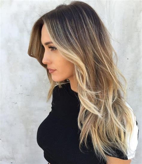 what does brown hair layered with blonde streaks look like picture 3