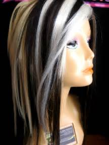 platinum blonde hair with black streaks picture 1