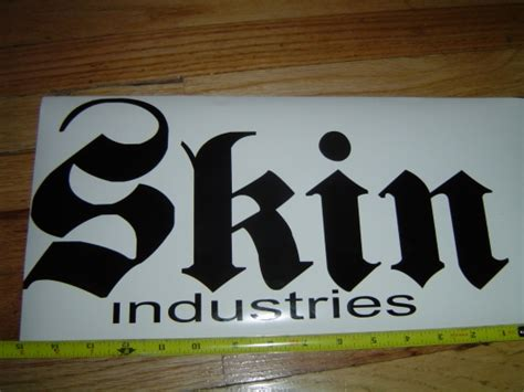 skin industrial stickers picture 1