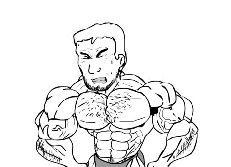 cartoon male muscle transformation picture 14