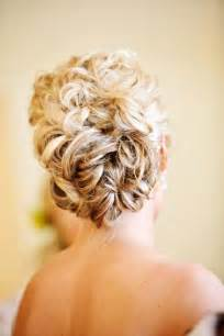 curly frizzie hair updo for wedding picture 5