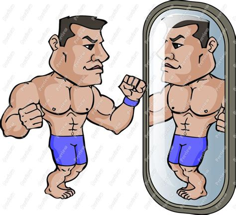 cartoon of muscle beach man picture 15