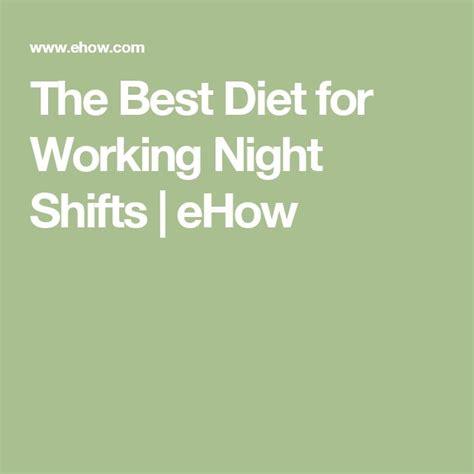 diet plans for 3rd shift workers picture 9