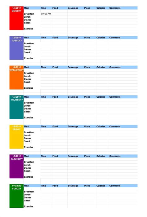 chart to track weight loss picture 18