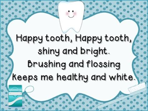 rhymes for healthy teeth picture 9