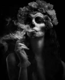 woman blowing smoke into face picture 6