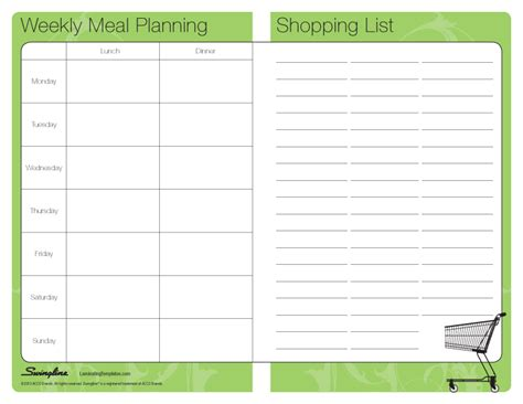 free diet meal plans with shopping list picture 2