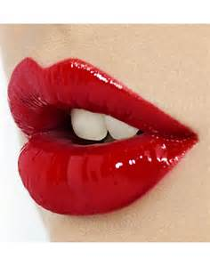 red glossy lips picture 9