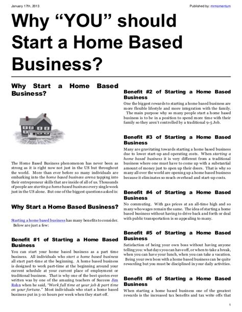 what type of home based business should i picture 1