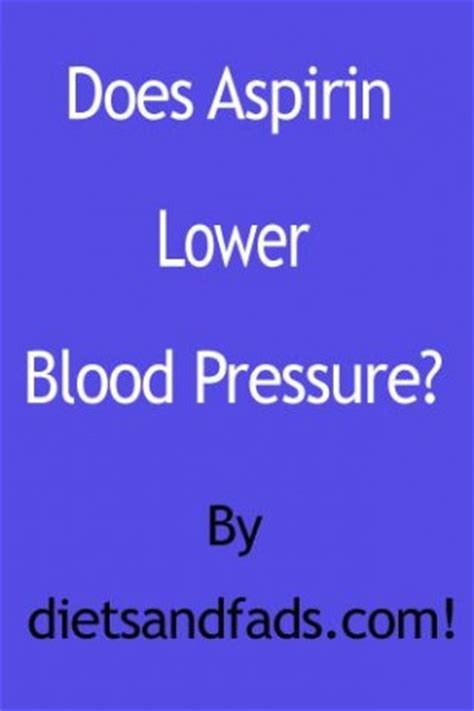 Aspirin lowering blood pressure picture 5