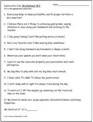 semicolon and colon grammar worksheets picture 5