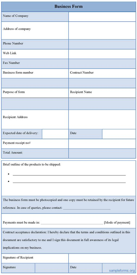 free online business forms picture 1