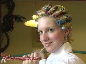 feminising my husband with hair rollers picture 2