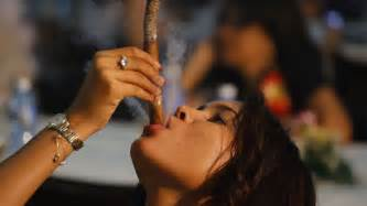 female smoking captain black cigar picture 17