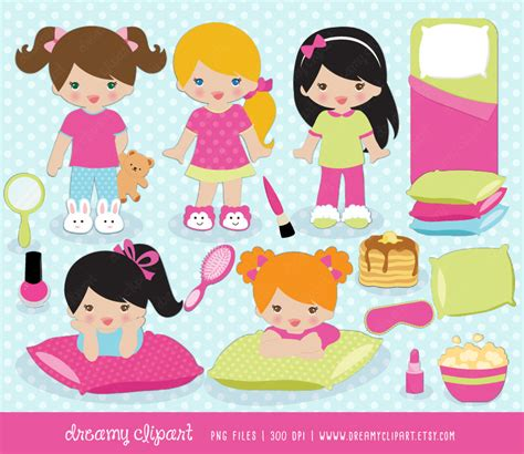 clip art with sleep over partys picture 16