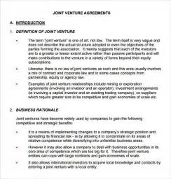 free joint venture contract picture 14