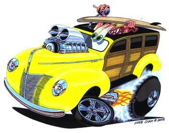 high octane muscle car drawings picture 7
