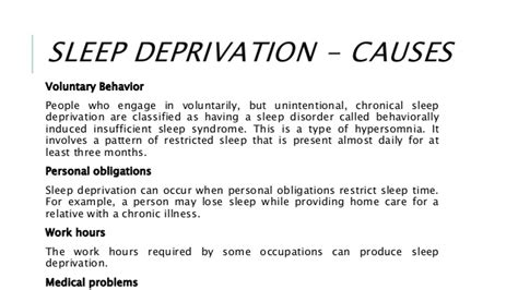 causes of sleep deprivation picture 2