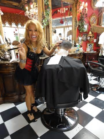 barber shaving women picture 13