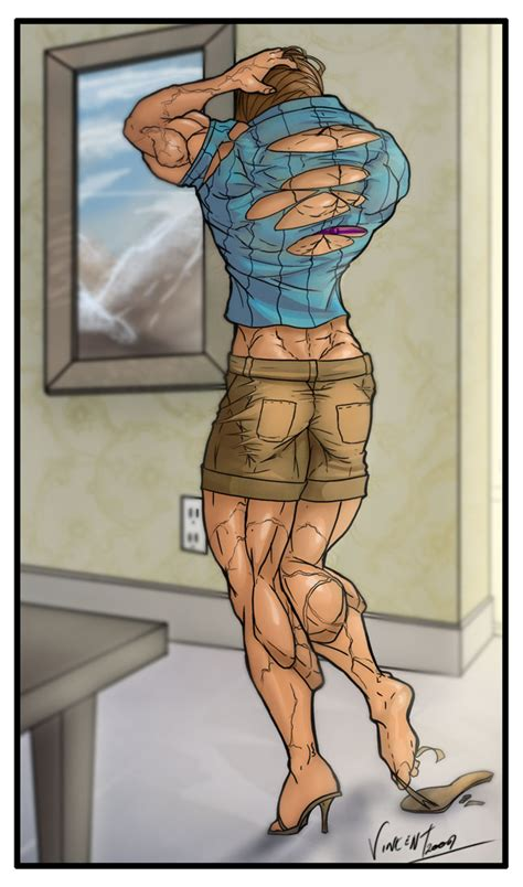 anime girl muscle grow picture 2