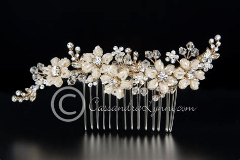 crystal flower hair clips picture 3