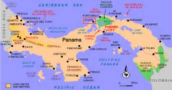 city map of isla colon panama picture 2