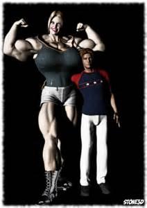 tall muscular women 3d picture 1