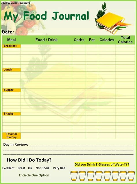 free printable diet journals picture 14