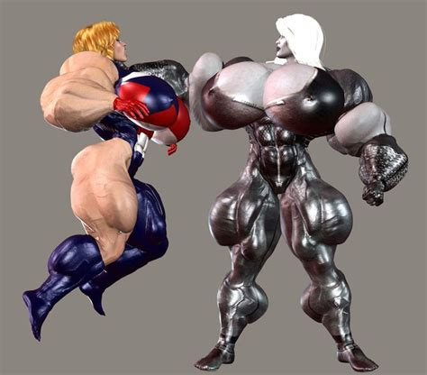female muscle growth animation picture 6