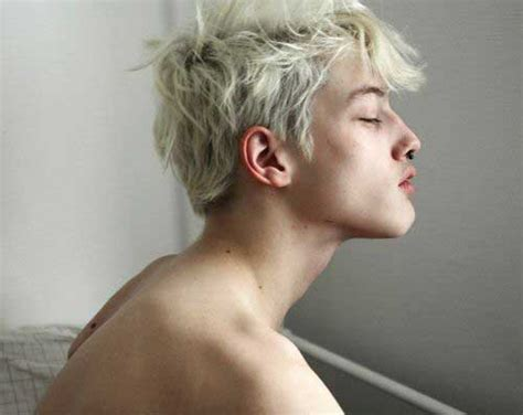 white blonde hair boy picture 1