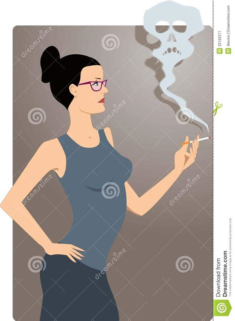 woman in cloud of cigarette smoke picture 7