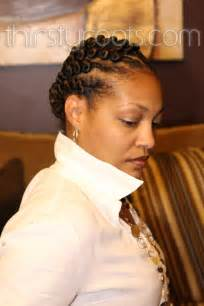 black hair style flat twists picture 5
