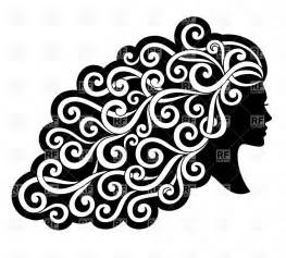 curly hair clipart picture 3