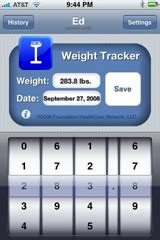 my weight tracker iphone picture 1