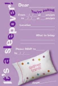 free printable sleepover party invitation picture 1
