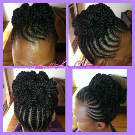 flat hair weave technique picture 13