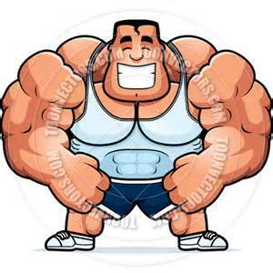 cartoon of muscle beach man picture 17