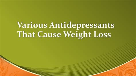 anti depressant and weight loss picture 1