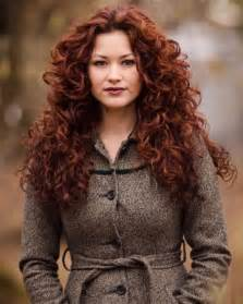 S curl red hair picture 7