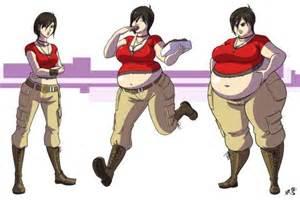 3d art nadine weight gain doughnut story picture 1