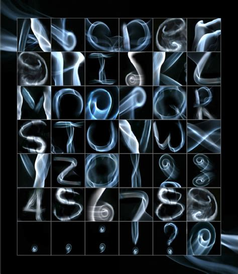 photographs of writings in smoke picture 6