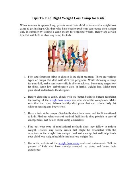 weight loss camp for children picture 6