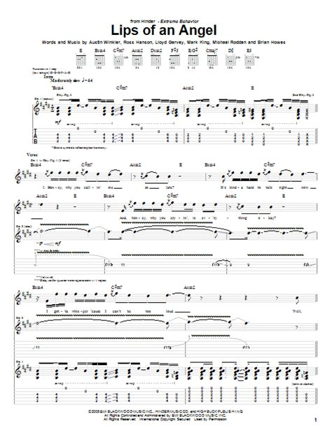 hinder- lips of an angel guitar tabs picture 2