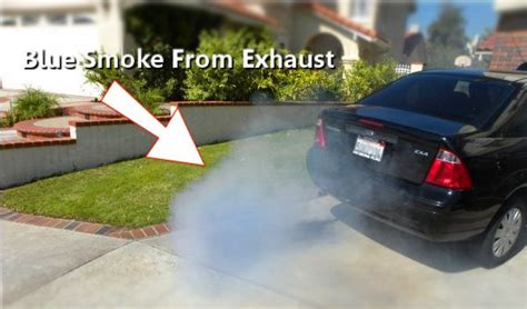 causes of blue smoke picture 1